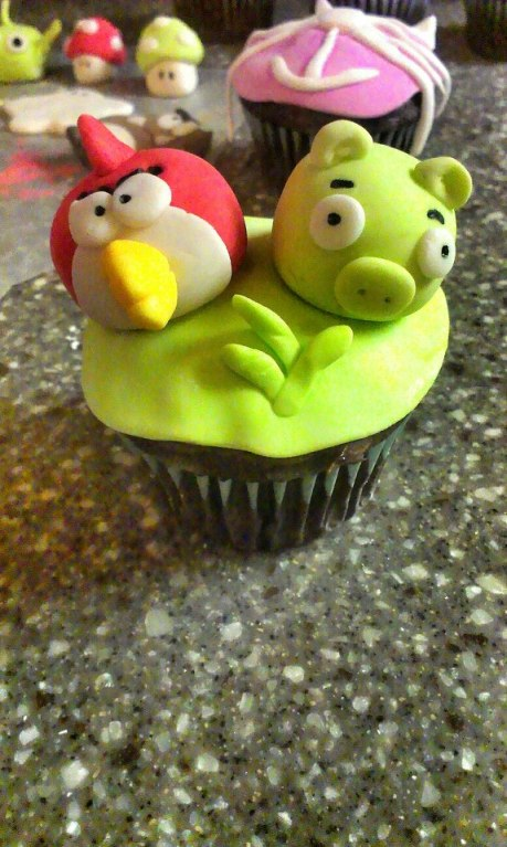 Angry Birds on Chocolate